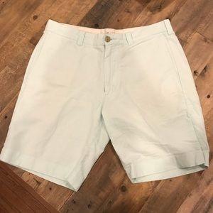 J. Crew Men's Linen Light Blue Shorts Size 32